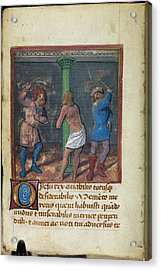 Flagellation Of Christ Acrylic Print by British Library