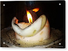 Flame Candle Art Acrylic Print by Sharon Cummings