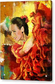 Flamenco Dancer 027 Acrylic Print by Catf