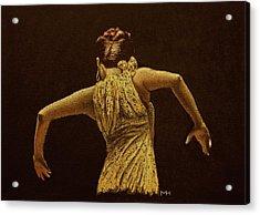 Flamenco Dancer In Yellow Dress Acrylic Print by Martin Howard