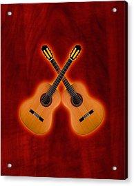 Flamenco  Guitar  Acrylic Print by Doron Mafdoos