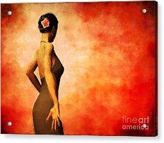 Flamenco Acrylic Print by John Edwards
