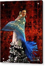 Flamenco Series #4 Acrylic Print by Mary Machare