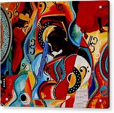 Flamenco Acrylic Print by Vel Verrept