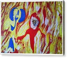 Flames Acrylic Print by Trevor R Plummer