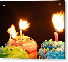 Flaming Cake Acrylic Print by Timothy OLeary