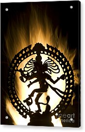 Flaming Natarja Acrylic Print by Tim Gainey