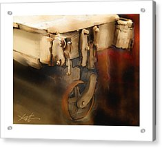 Flatbed Trolley Acrylic Print by Bob Salo