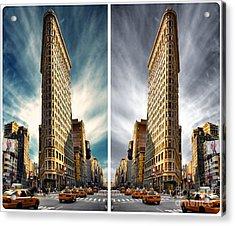 Flatiron Building  Acrylic Print by AHcreatrix