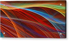 Flaunting Colors Acrylic Print by Lourry Legarde