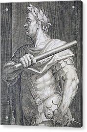 Flavius Domitian Acrylic Print by Titian
