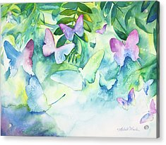 Flight Of The Butterflies Acrylic Print by Michelle Wiarda
