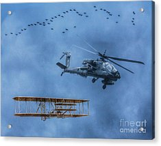 Flight Old And New Acrylic Print by Randy Steele