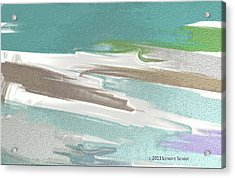 Floating On Ice Acrylic Print by Lenore Senior