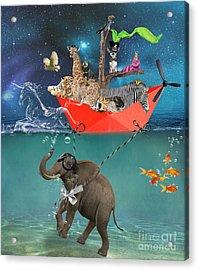 Floating Zoo Acrylic Print by Juli Scalzi