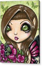 Floewer Fairy Fleur Acrylic Print by Elaina  Wagner