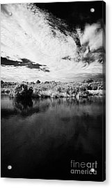 Flooded Grasslands And Mangrove Forest In The Florida Everglades Acrylic Print by Joe Fox
