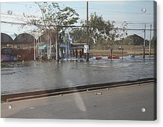 Flooding Of The Streets Of Bangkok Thailand - 01131 Acrylic Print by DC Photographer