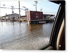 Flooding Of The Streets Of Bangkok Thailand - 01135 Acrylic Print by DC Photographer