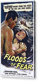 Floods Of Fear, Us Poster, From Left Acrylic Print by Everett