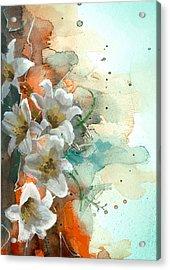 Floral 14 Acrylic Print by Mahnoor Shah