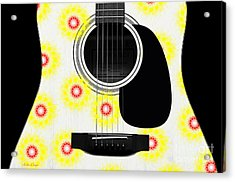 Floral Abstract Guitar 22 Acrylic Print by Andee Design