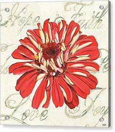 Floral Inspiration 1 Acrylic Print by Debbie DeWitt