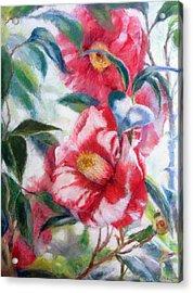 Floral Print Acrylic Print by Nancy Stutes