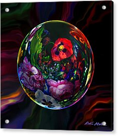 Floral Still Life Orb Acrylic Print by Robin Moline