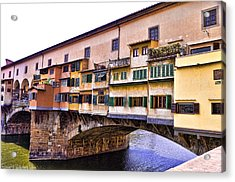 Florence Italy Ponte Vecchio Acrylic Print by Jon Berghoff