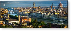 Florence Panorama Acrylic Print by Inge Johnsson