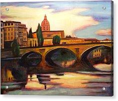 Florence Acrylic Print by Sheila Diemert
