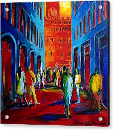 Florence Sunset Acrylic Print by Mona Edulesco