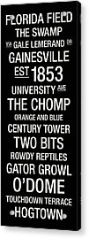 Florida College Town Wall Art Acrylic Print by Replay Photos