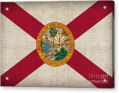 Florida State Flag Acrylic Print by Pixel Chimp