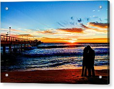 Florida Sunrise Brings A New Year Acrylic Print by Andres Leon