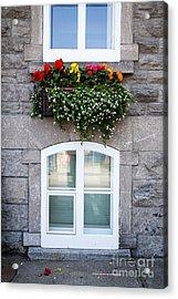 Flower Box Old Quebec City Acrylic Print by Edward Fielding