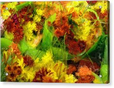 Flower Carnival Acrylic Print by Ayse Deniz