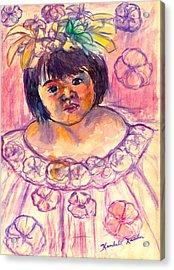 Flower Girl Acrylic Print by Kendall Kessler