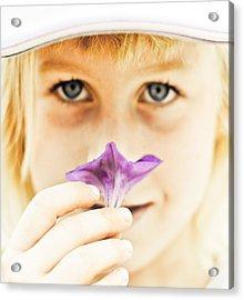 Flower Acrylic Print by Kevin Barske