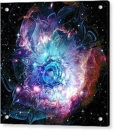 Flower Nebula Acrylic Print by Anastasiya Malakhova