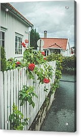Flower On The Fence Acrylic Print by Mirra Photography