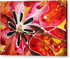 Flower Power - Abstract Floral By Sharon Cummings Acrylic Print by Sharon Cummings