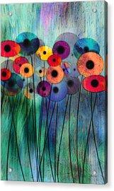 Flower Power Three Acrylic Print by Ann Powell