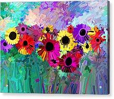 Flower Power Two Acrylic Print by Ann Powell