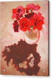 Flower Shadows Still Life Acrylic Print by Nancy Merkle