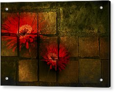 Flower Tiles Acrylic Print by Michael Huddleston