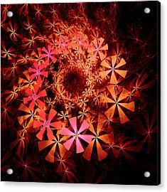 Flower Whirlpool Acrylic Print by Anastasiya Malakhova