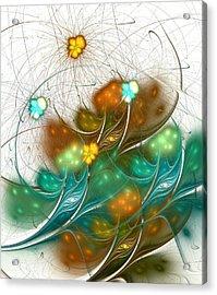 Flower Wind Acrylic Print by Anastasiya Malakhova