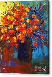 Flowers Are Always Welcome IIi Acrylic Print by Patricia Awapara